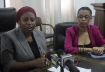 Ummy Mwalimu, Tanzania's Minister of Health addresses journalists in Dar es Salaam, Tanzania, March 16, 2020. Tanzania confirmed its first case of COVID-19 on Monday, according to the country's Ministry of Health, Community Development, Gender, Elderly and Children. (Xinhua)