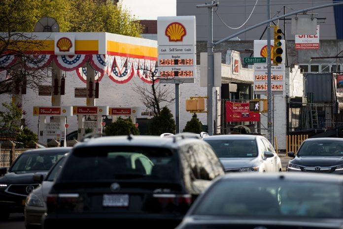 A sign displays gas prices at a gas station in the Brooklyn borough of New York, the United States, on April 20, 2020. U.S. oil prices crashed to the negative territory for the first time in history on Monday, fueled by pandemic-related demand shock and oversupply fears. The West Texas Intermediate (WTI) for May delivery shed 55.9 U.S. dollars, or over 305 percent, to settle at -37.63 dollars a barrel on the New York Mercantile Exchange, implying that producers would pay buyers to take oil off their hands. (Photo by Michael Nagle/ Xinhua)