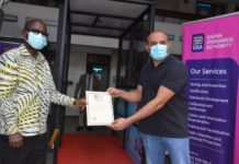 Ghana Standards Authority Certifies Locally Made Sanitizing Tunnel