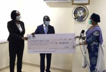 Institute Of Internal Auditors Donates To Covid Fund