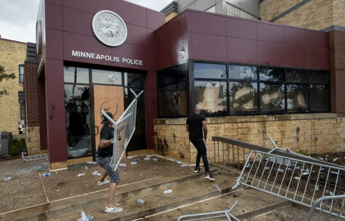 Minneapolis Third Precinct Attacked By Demonstrators Protesting The Police Killing Of George Floyd