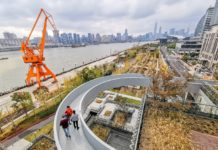 Photo taken in November 2019 shows a view of Huangpu River from the waterfront public space. Photo by Wang Gang/People's Daily Online