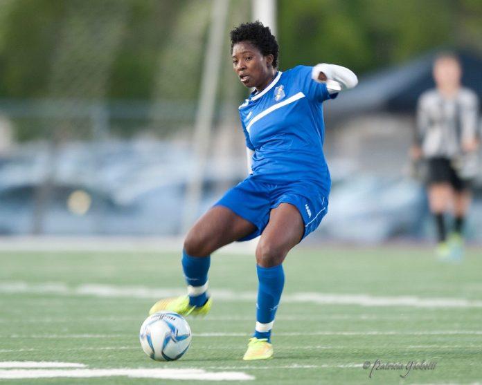 midfielder Jennifer Cudjoe
