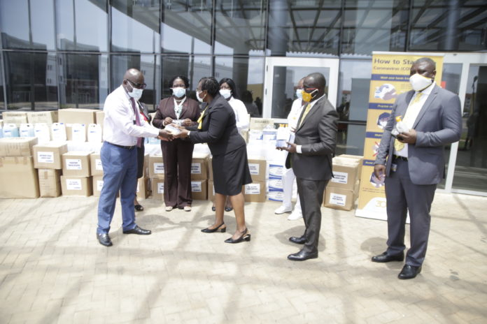 Staff Donation Of Ppes To The University Of Ghana Medical Centre In The Greater Accra Region