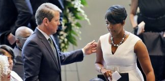 Atlanta Mayor Keisha Lance Bottoms And Georgia Gov Brian Kemp