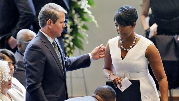 Atlanta Mayor Keisha Lance Bottoms And Georgia Gov Brian Kemp