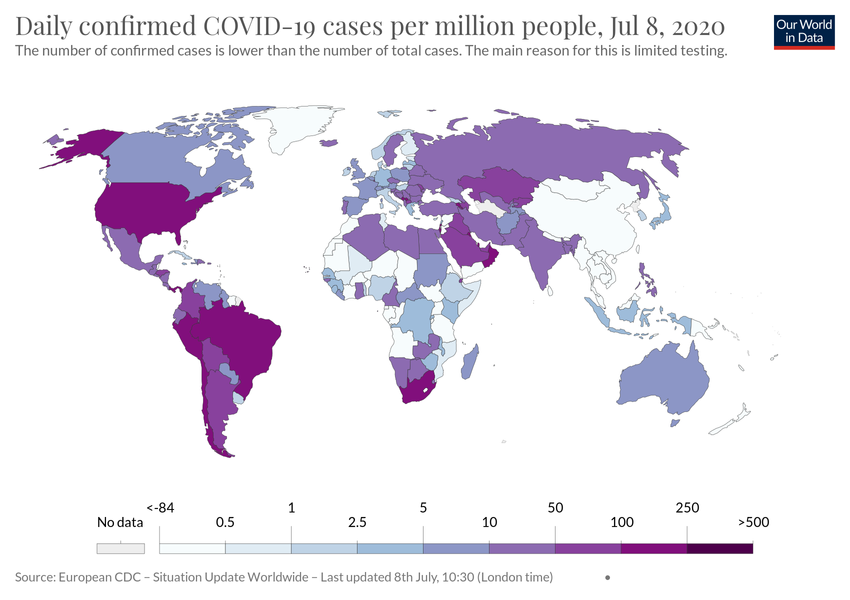 Covid World Map Of Increasing Cases