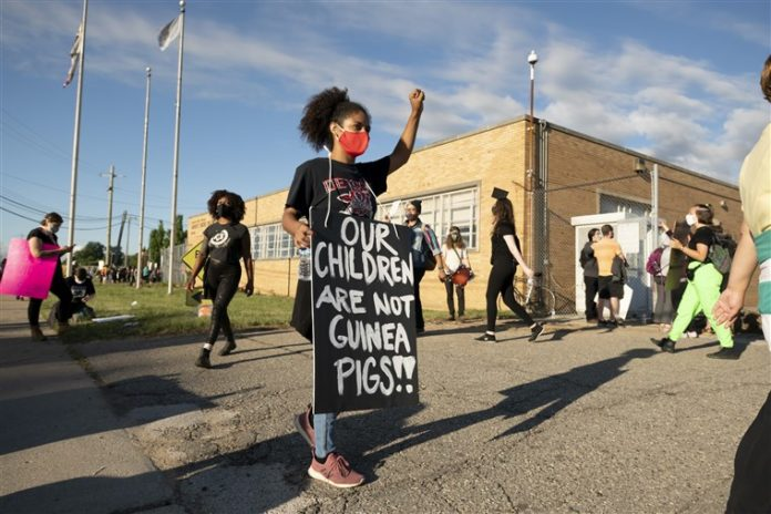 Detroit Demonstration Against School Reopening