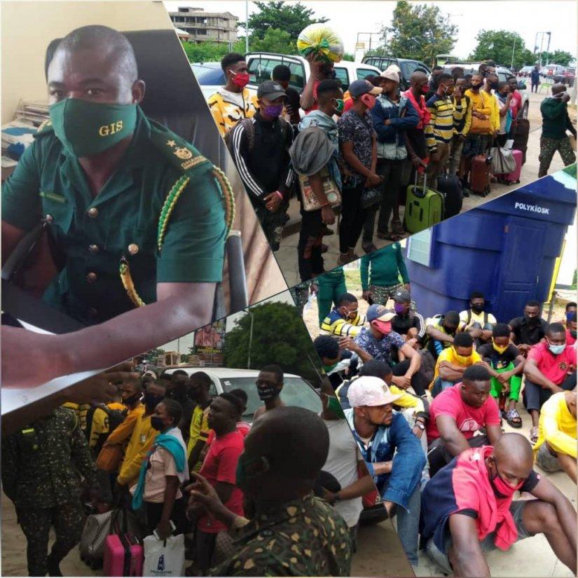 GIS intercepts 25 Nigerians at Sogakope