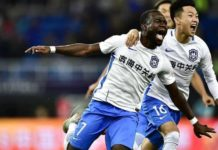 Frank Acheampong forced by ankle injury to miss Tianjin Teda's 2-2 draw against Chongqing