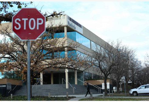 Photo taken on June 23, 2020 shows the office building in which the Australian Strategic Policy Institute is located, in Canberra, Australia. TO GO WITH Xinhua Headlines: The think tank behind anti-China propaganda in Australia (Xinhua)