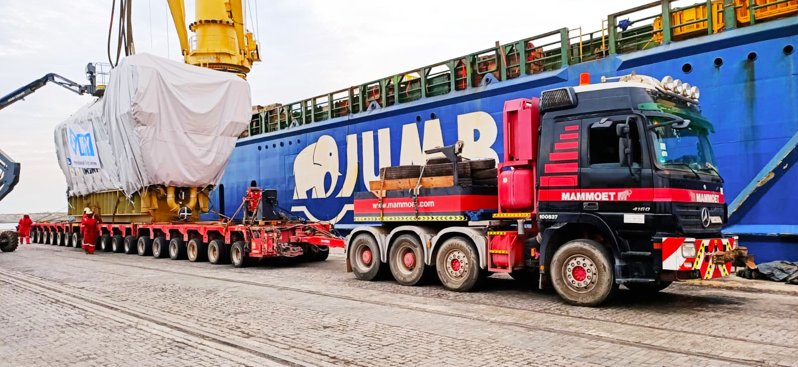 Receiving components in Takoradi port