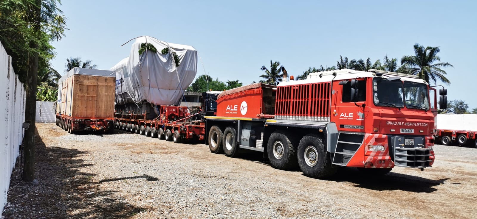 Equipment arrived at the site