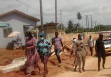 Gender Minister Inspects Swedru Township Roads And Astroturf Projects