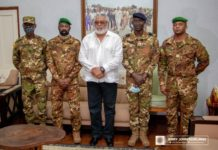 Rawlings Receives Malian Military Leaders