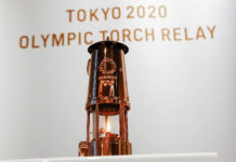 Tokyo 2020 has unveiled the Olympic Flame near the new National Stadium in the Japanese capital ©Getty Images