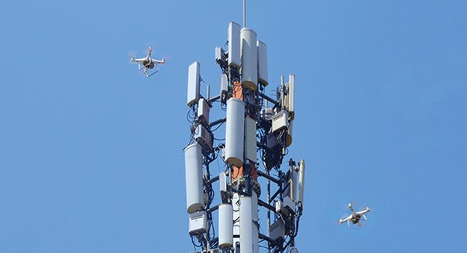 Tower And Drones