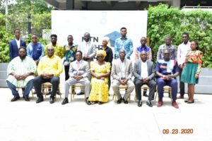 A Group Picture Of Scholarship Beneficiaries From Southern Sector With The Dignitaries At The Bright Scholarship Awards Ceremony In Accra