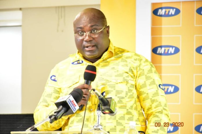 Mr William Tetteh Gm Mtn Capital Project Delivering A Speech On Behalf Of Ceo Of Mtn Ghana At Mtn Bright Scholarship Awards Ceremony In Accra