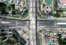 Photo taken on May 2, 2020 shows the Ubungo interchange, the biggest project of its kind in the country under construction by China Civil Engineering Construction Corporation (CCECC), in Dar es Salaam, Tanzania. (Xinhua)