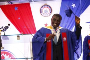 A Picture Of George Armeyaw A Beneficiary Who Graduated From The University Of Education Winneba