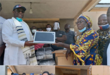 Amewu Donates Laptops