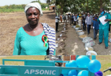 Madam Vida Boame Was Presented With A Certificate A Tricycle And Others