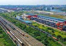 Photo shows the Chengdu International Railway Port. Photo by Bai Guibin/People's Daily Online