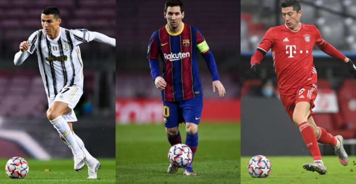 Messi, Ronaldo And Lewandowski Nominated