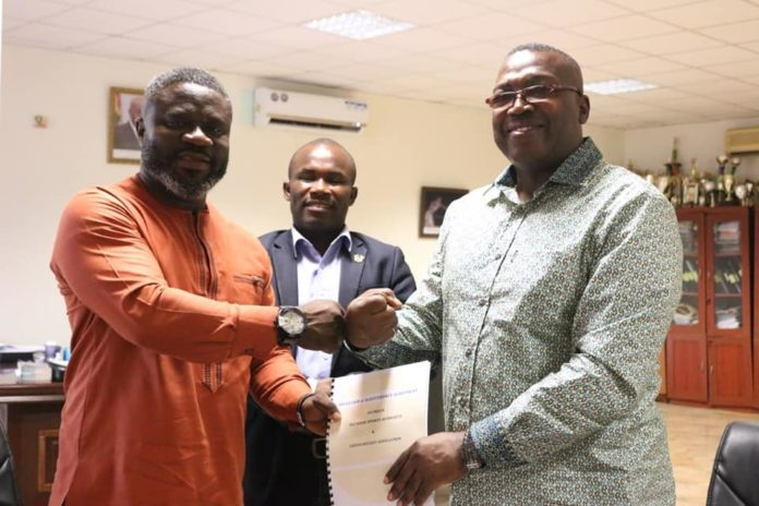 NSA and GHA have signed an agreement to renovate the Theodosia Okoh National Hockey Stadium