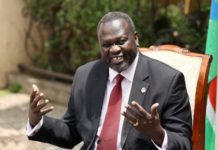 Sudan S First Vice President Riek Machar