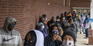 African American Voters Line Up In Georgia