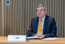 IOC President, Thomas Bach, hosts the first Executive Board meeting for 2021 in Olympic House. (Photo by Greg Martin/IOC)