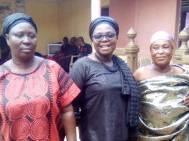 left to right, Ohemaa Kyeame, Nana Nyantakyiwaa (straight Atire)Justina Owusu BanaHene, MCE (Middle) Sompahemaa, Nana Ama Serwaa at Atronie Palace after the meeting