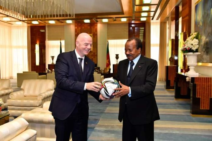 FIFA President Infantino arrives in Cameroon