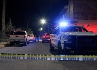 Near the scene of the killings in Celaya, Mexico, on Thursday night.Credit...EPA, via Shutterstock