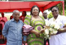 Mr Gustav Anokye Yeboah With First Lady