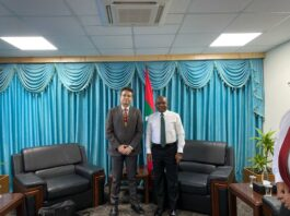 P L To R Bobby Mohanty With Maldives Foreign Minister