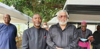Reverend Dr Lawrence Tetteh Former President Rawlings