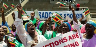 Sadc Anti Sanctions Demonstration In Solidarity With Zimbabwe