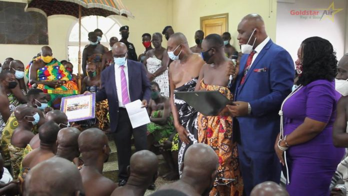 Goldstar Air honours Asantehene Otumfo Osei Tutu II