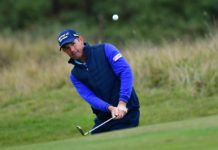The image of European Ryder Cup Captain Pádraig Harrington, Tyrrell Hatton and Matthew Fitzpatrick must be credited to Getty
