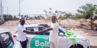 Adam Okens Receiving His Bolt Brand New Car