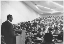 Malcolm X Speaks At Wayne State University Nov