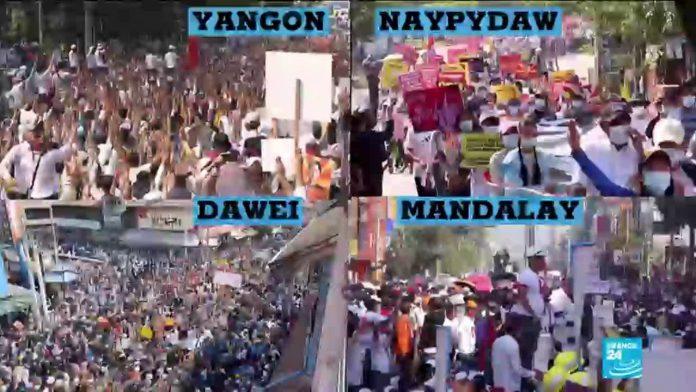Myanmar gripped by general strike