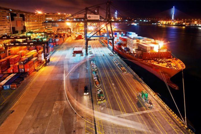 Scenic Image Of Entire Terminal And Yard At Hong Kong Ct