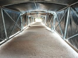 permanent football tunnel