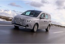 HANDOUT - The Mercedes Citan, here still in camouflage, is warming up for a launch later this year. Photo: Dieter Rebmann/Daimler AG/dpa - ATTENTION: editorial use only in connection with the aforementioned text and only if the credit mentioned above is referenced in full