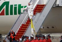 Pope Francis is making history today as he lands in #Iraq, (AP Photo)