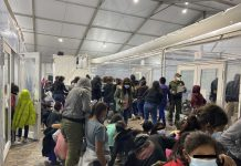 U.S. Rep. Henry Cuellar on Monday released photos from inside a facility where the Biden administration is housing migrants, offering the public's first glimpse inside overflow facilities as the administration has restricted press access amid a surge of border crossings.
